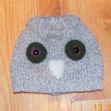 Гламурная демисезонная шапка для девочки 3-5 лет, 52 см