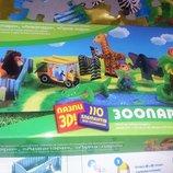 Объемные крупные пазлы 3D Барни зоопарк, конструктор картонный, собери и играй. Отличное состояние,