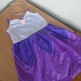 Карнавал платье девочке 146 см Рапунцель с косой дисней фиолетовое