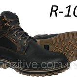 Мужские кожаные зимние ботинки из натуральной кожи R-10