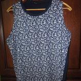 Блуза в цветочек большого размера