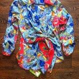 блузка рубашка с запахом Турецкий огурец