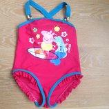 Купальник 3-4 г розовый детский девочке пепла пиг Marks&Spence как новый фирменный яркий
