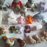 Лот игрушек.PG Tips blue nose friends обезьянка мишка ведмедь собачка пес глазастик котик
