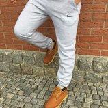Штаны спортивные теплые nike спортивні штани найк на флісі
