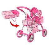 Детская игровая коляска трансформер М9388. Разные расцветки.