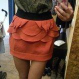юбка терракотовая
