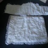 Лот бортик, одеяльце и наматрасник в детскую кроватку