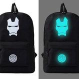 Черный рюкзак светящийся AL6756