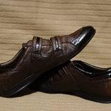 Эффектные комбинированные кожаные спортивные туфли Oxide Турция 41 р.