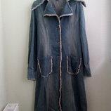 Невероятный итальянский джинсовый плащ 7013