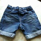 Шорты джинсовые на девочку фирмы George на возраст 3-4 года размер 98-104