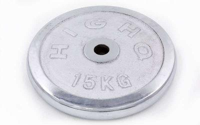 Блины хромированные диски хромированные 1455 вес 15кг, d 30мм