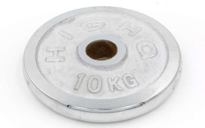 Блины хромированные диски хромированные 1456 вес 10кг, d 52мм
