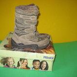 Сапоги ботинки Primigi с мембраной Gore-Tex 33-34 размер по стельке 22 см. Кожаные. Зимние. В идеал