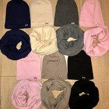 Зимние наборы шапка и хомут