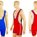Трико для борьбы и тяжелой атлетики двухстороннее мужское 3044 размер M-XL