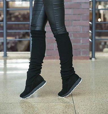 Натуральные демисезонные женские сапоги / ботинки с чулком / сапожки - чулки