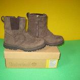 Ботинки Timberland Waterproof 31 размер по стельке 20 см. Кожаные. Внутри утеплитель, стелька кожана
