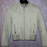 Классная кожаная курточка-бомбер Pepe Jeans p.XS-S.