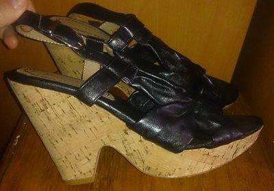 стильні чорні босоніжки р39 еко шкіра Dorothy Perkins