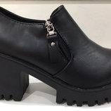 Супер Мода Года Бомбовые ботильоны,туфли на тракторной подошве Для Модной