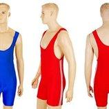 Трико для борьбы и тяжелой атлетики, пауэрлифтинга 3534 2 цвета, размер S-XL