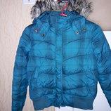 Куртка пуховик девочке 10- 11лет