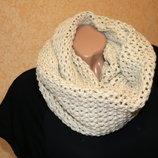 Теплый вязаный шарф-снуд 45х150 Takko Fashion Германия