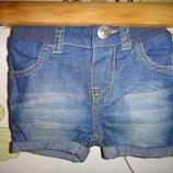 Джинсовые шорты H&M eur 62, 2-4 мес