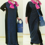 Платье длинными рукавами в пол USA
