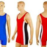 Трико для борьбы и тяжелой атлетики, пауэрлифтинга 4262 2 цвета, размер 40-50