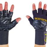 Перчатки атлетические с фиксатором запястья Golds Gym 3603 размер S-XL