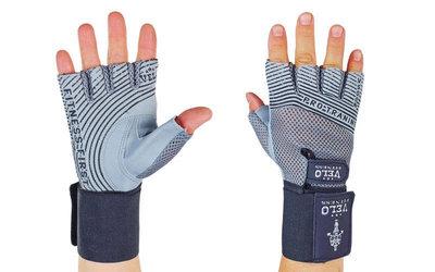 Перчатки атлетические с фиксатором запястья Velo 3222 размер S-XL