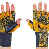 Перчатки атлетические с фиксатором запястья Velo 3224 размер S-XL