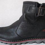 Levis Мужские зимние черные кожаные Levi's Угги Левис ботинки сапоги уги