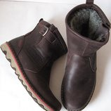 Levis Мужские зимние коричневые кожаные Levi's Угги Левис ботинки сапоги уги