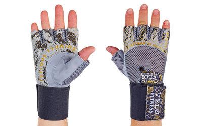 Перчатки атлетические с фиксатором запястья Velo 3227 размер S-XL