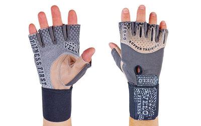 Перчатки атлетические с фиксатором запястья Velo 3233 размер S-XL