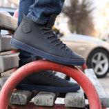 Кеды мужские кожаные ботинки конверсы 100% Кожа