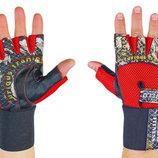 Перчатки атлетические с фиксатором запястья Velo 3229 размер S-XL