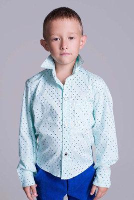 Детская стильная рубашка на кнопках 2102 Коттон Принт .
