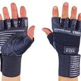 Перчатки атлетические с фиксатором запястья Velo 8117 размер S-XL