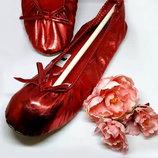 Женские красные тапочки-балетки р.35/36 Walmart Сша