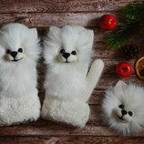 Перчатки и варежки со зверушками ручной работы. Лучший подарок