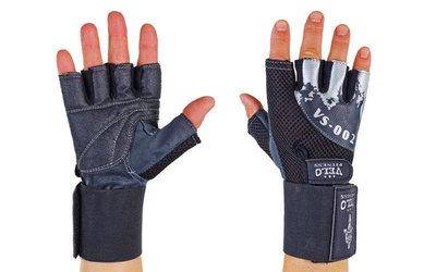 Перчатки атлетические с фиксатором запястья Velo 8118 размер S-XL