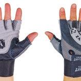 Перчатки атлетические с фиксатором запястья Velo 8121 размер M-XL