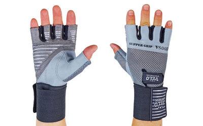 Перчатки атлетические с фиксатором запястья Velo 8122 размер S-XL