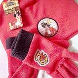 Зимний флисовый комплект шапка с перчатками.Studio100.Германия.Lidl.5-7 лет