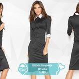 Полосатое платье-миди